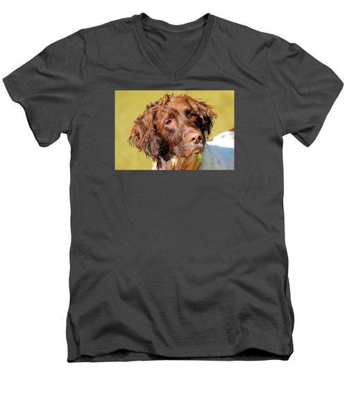Maggie Head Photo Art Men's V-Neck T-Shirt