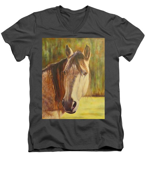Maggie, Horse Portrait Men's V-Neck T-Shirt