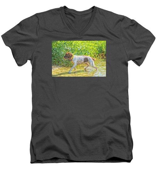 Maggie Stride Photo Art Men's V-Neck T-Shirt