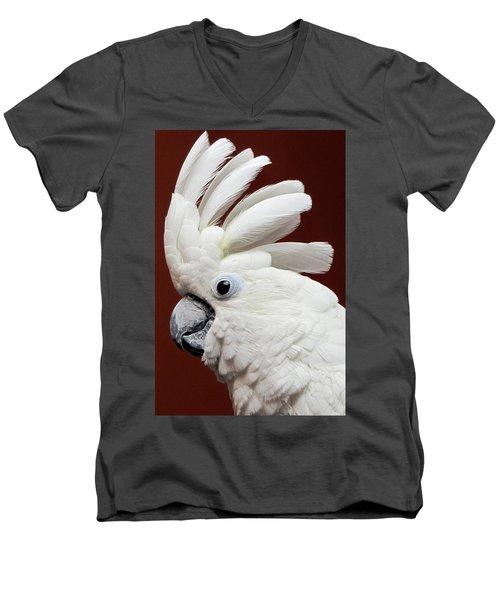 Maggie The Umbrella Cockatoo Men's V-Neck T-Shirt