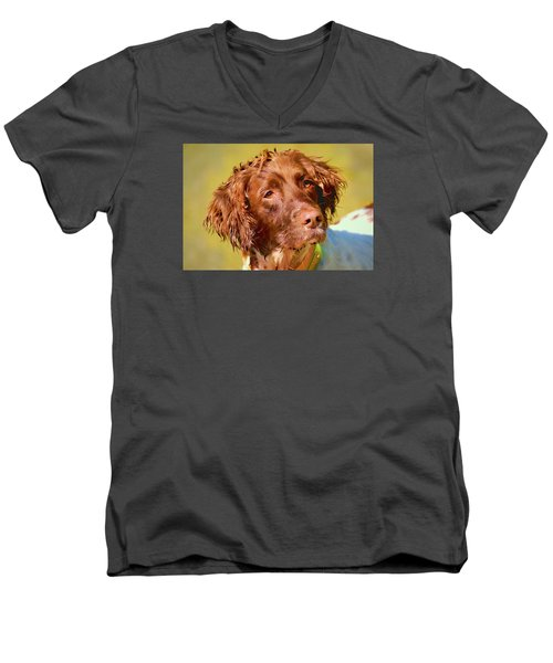 Maggie Wc Men's V-Neck T-Shirt by Constantine Gregory