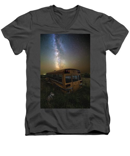 Men's V-Neck T-Shirt featuring the photograph Magic Bus by Aaron J Groen