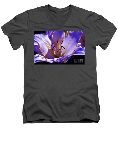 Magic Floral Poetry Men's V-Neck T-Shirt
