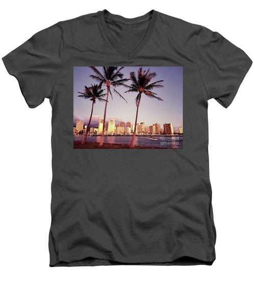 Magic Island Men's V-Neck T-Shirt