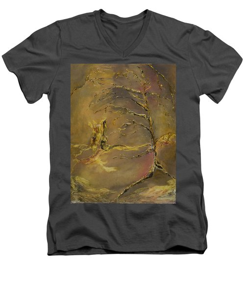 Magic Men's V-Neck T-Shirt by Nadine Dennis