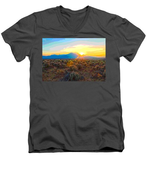 Magic Over Taos Men's V-Neck T-Shirt