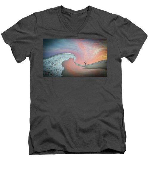 Magical Beach Sunset Men's V-Neck T-Shirt