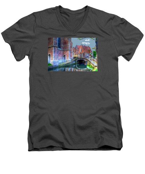 Magical Delft Men's V-Neck T-Shirt by Uri Baruch