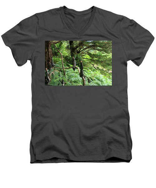 Men's V-Neck T-Shirt featuring the photograph Magical Forest by Aidan Moran