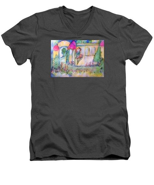 Magical Men's V-Neck T-Shirt by Judith Desrosiers