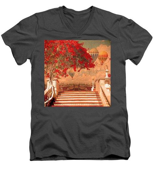 Magical Kindom Men's V-Neck T-Shirt by Jeff Burgess