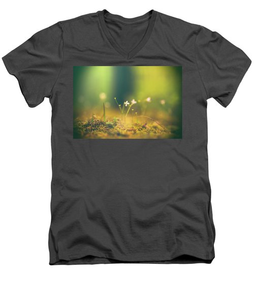 Men's V-Neck T-Shirt featuring the photograph Magical Moment by Shane Holsclaw