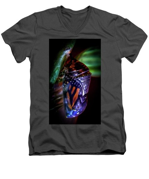Magical Monarch Men's V-Neck T-Shirt by Karen Wiles