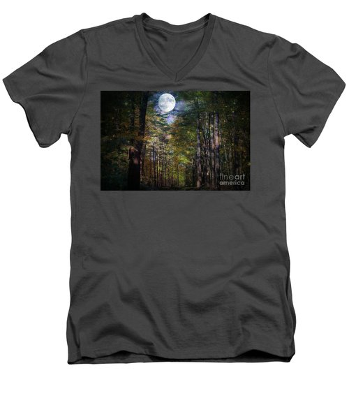 Magical Moonlit Forest Men's V-Neck T-Shirt