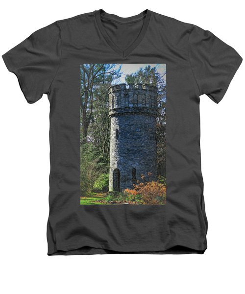 Magical Tower Men's V-Neck T-Shirt by Patrice Zinck