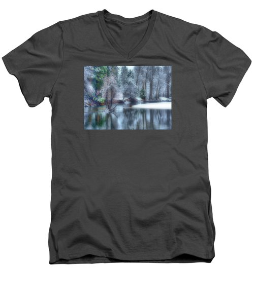 Magical Touch To Yosemite Men's V-Neck T-Shirt by Josephine Buschman