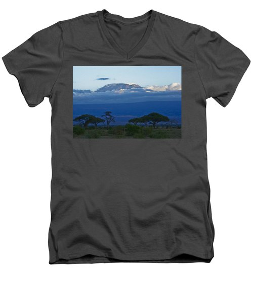 Magnificent Kilimanjaro Men's V-Neck T-Shirt