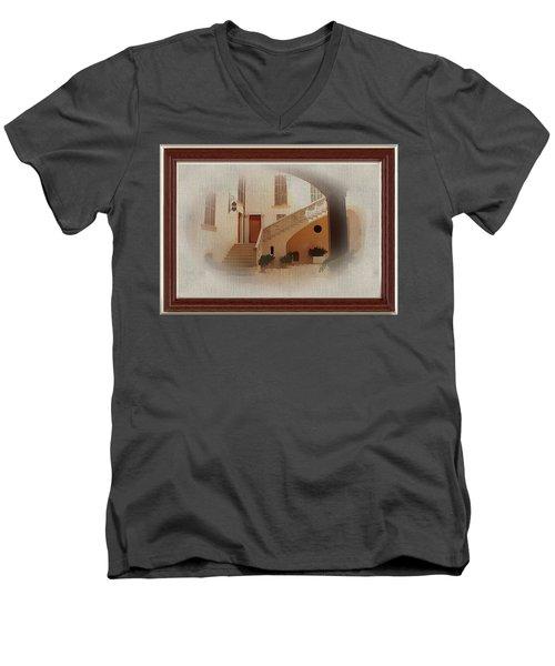 Magnificent Mexican Hacienda Men's V-Neck T-Shirt