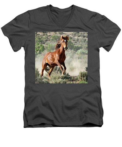 Magnificent Mustang Wildness Men's V-Neck T-Shirt