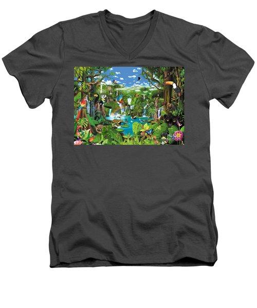Magnificent Rainforest Men's V-Neck T-Shirt