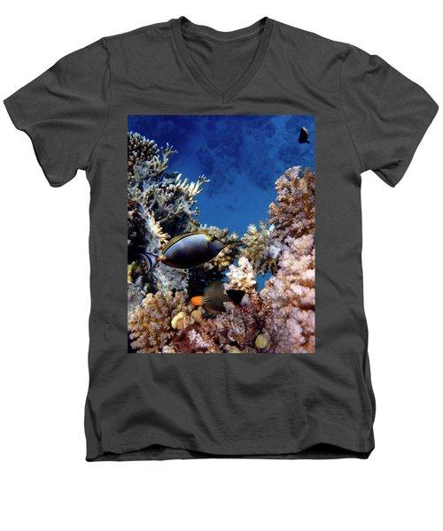 Magnificent Red Sea World Men's V-Neck T-Shirt