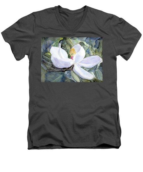 Magnolia Blossom Men's V-Neck T-Shirt