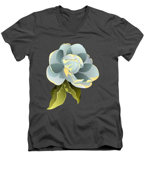 Men's V-Neck T-Shirt featuring the digital art Magnolia Blossom Graphic by MM Anderson