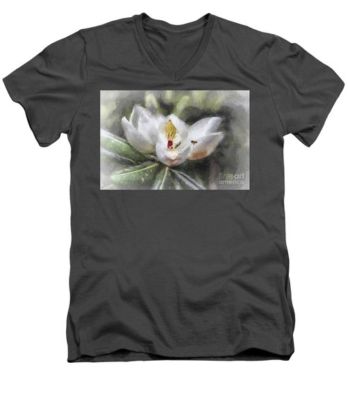Magnolia Harvest Men's V-Neck T-Shirt