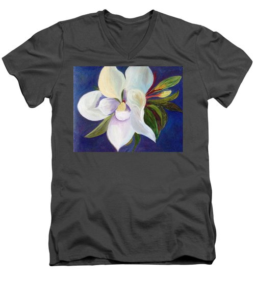 Magnolia Painting Men's V-Neck T-Shirt