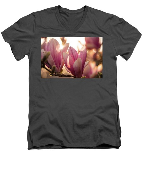 Magnolias At Sunset Men's V-Neck T-Shirt