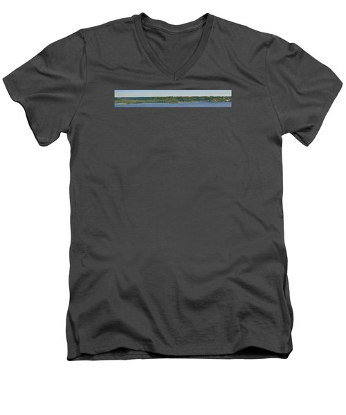 Men's V-Neck T-Shirt featuring the photograph Maiden Rock, Wi by Dan Traun