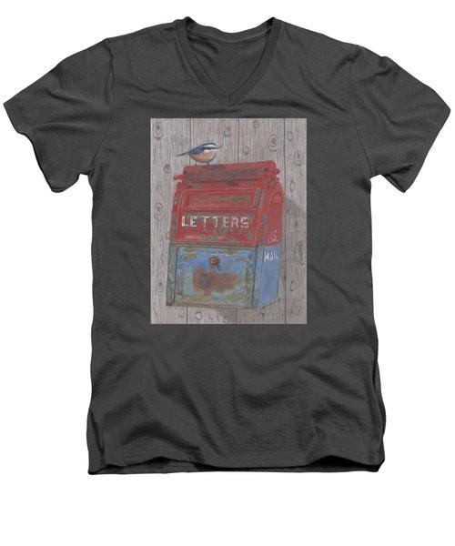 Mail Call Men's V-Neck T-Shirt by Arlene Crafton