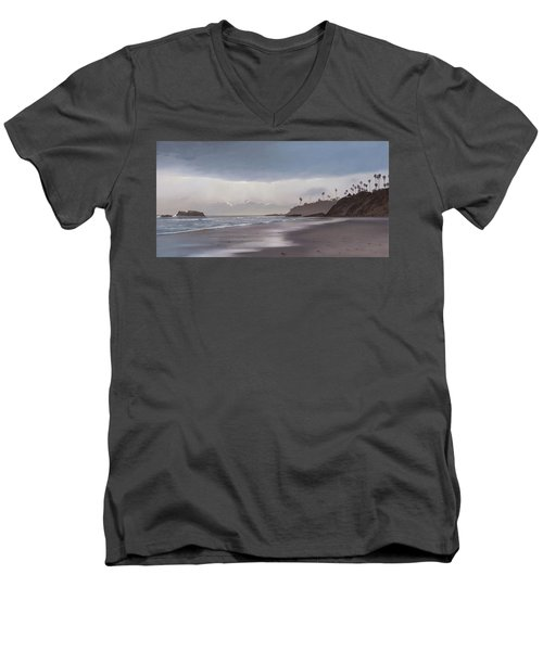 Main Beach Reflections Men's V-Neck T-Shirt