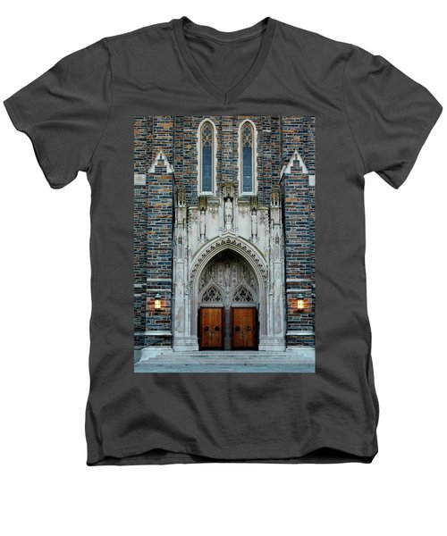 Main Entrance To Chapel Men's V-Neck T-Shirt
