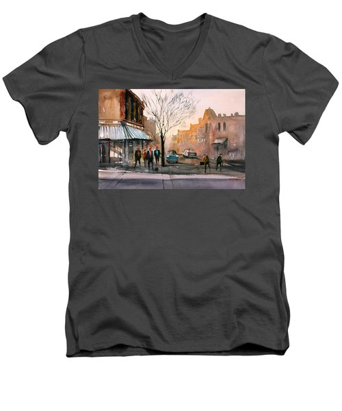 Main Street - Steven's Point Men's V-Neck T-Shirt