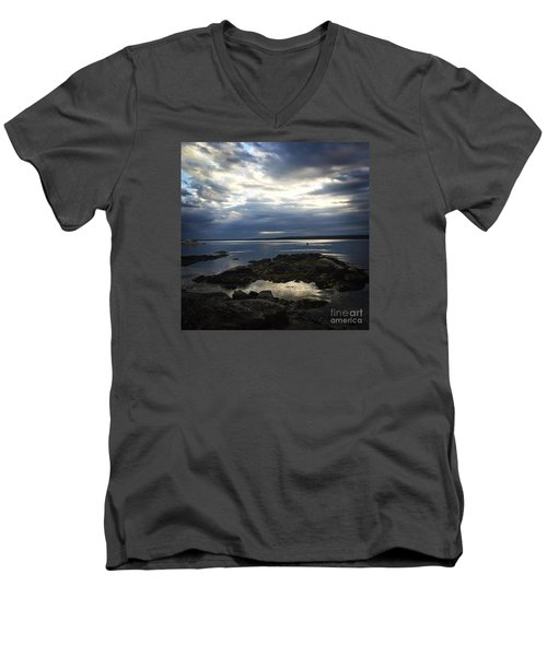 Maine Drama Men's V-Neck T-Shirt by LeeAnn Kendall