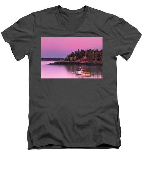 Maine Five Islands Coastal Sunset Men's V-Neck T-Shirt