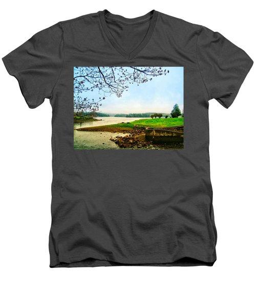 Maine Fog  Men's V-Neck T-Shirt