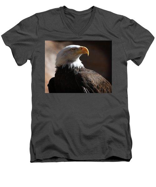 Majestic Eagle Men's V-Neck T-Shirt by Marie Leslie