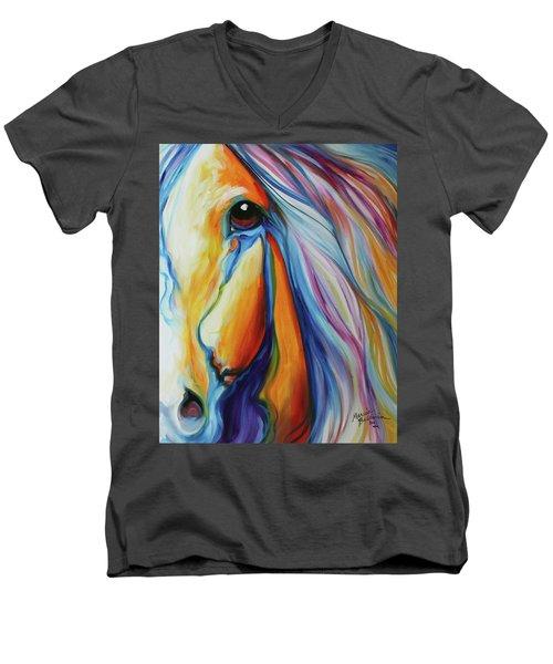 Majestic Equine 2016 Men's V-Neck T-Shirt by Marcia Baldwin