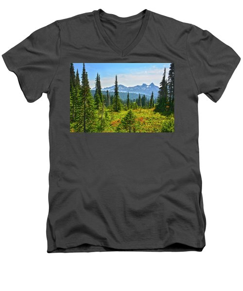 Majestic Meadows Men's V-Neck T-Shirt by Angelo Marcialis