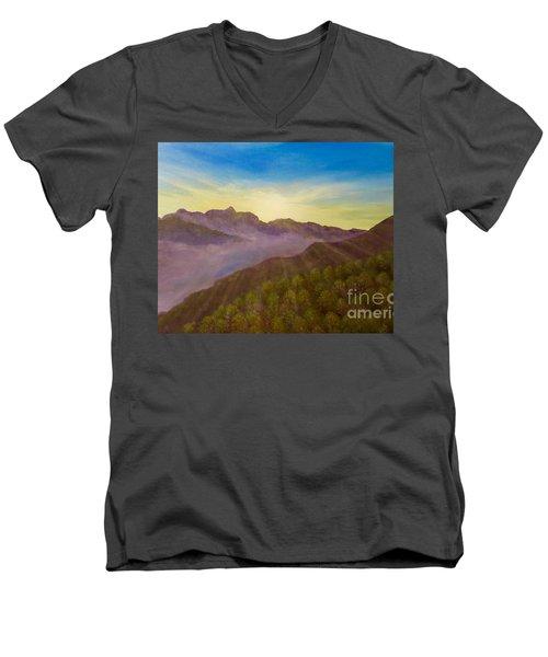 Majestic Morning Sunrise Men's V-Neck T-Shirt