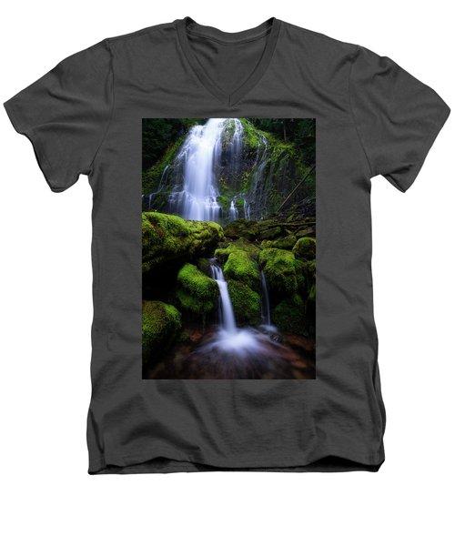 Majestic Proxy Men's V-Neck T-Shirt by Bjorn Burton