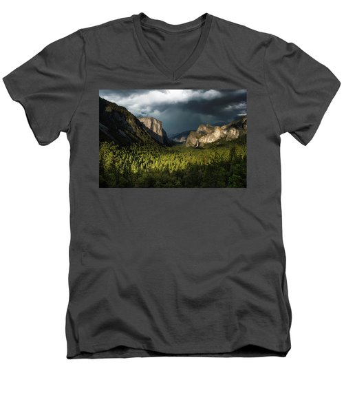 Majestic Yosemite National Park Men's V-Neck T-Shirt