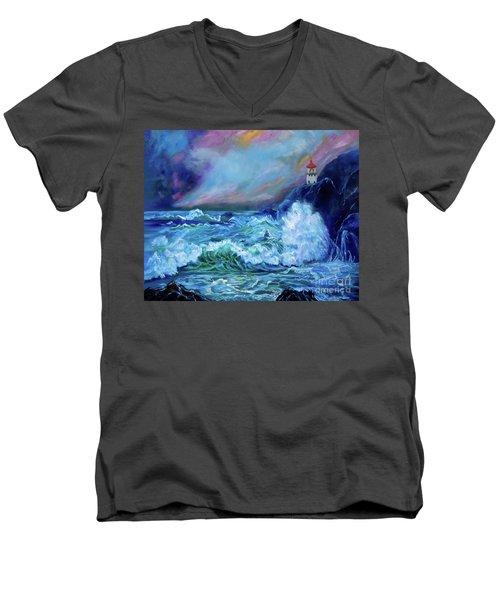 Makapuu Light House Men's V-Neck T-Shirt