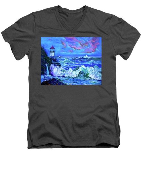Makapuu Lighthouse 11 Jenny Lee Discount Men's V-Neck T-Shirt