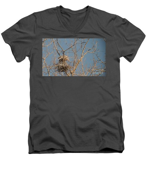 Men's V-Neck T-Shirt featuring the photograph Making Babies by David Bearden
