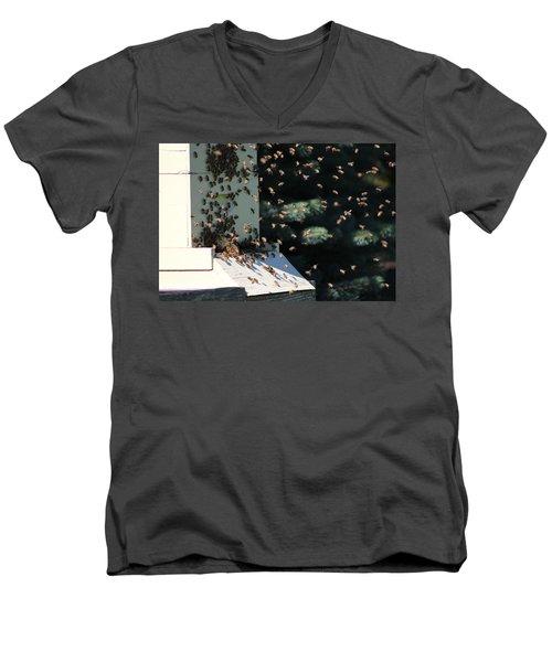 Making Honey - Landscape Men's V-Neck T-Shirt