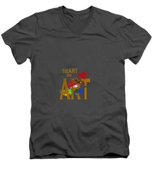 Malachite By V.kelly Men's V-Neck T-Shirt