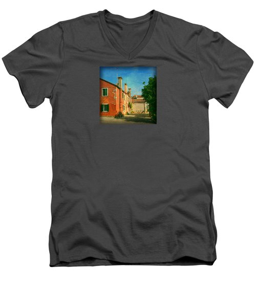 Men's V-Neck T-Shirt featuring the photograph Malamocco Corner No1 by Anne Kotan